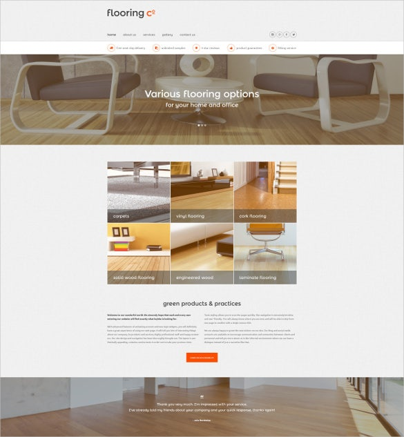 corporate flooring furniture website template