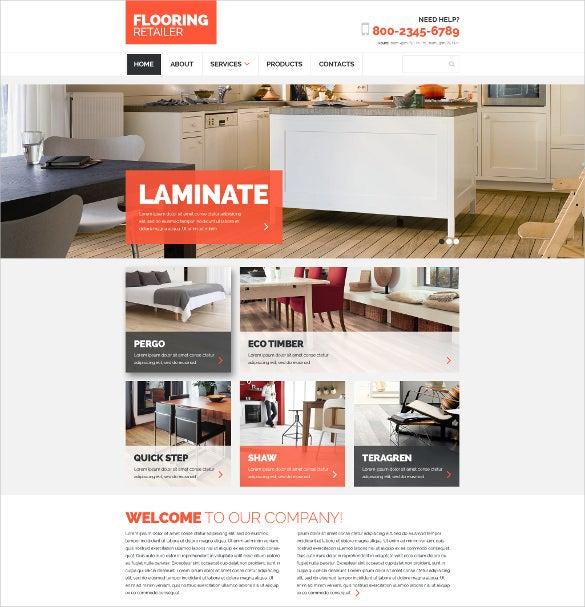 modern furniture responsive website template