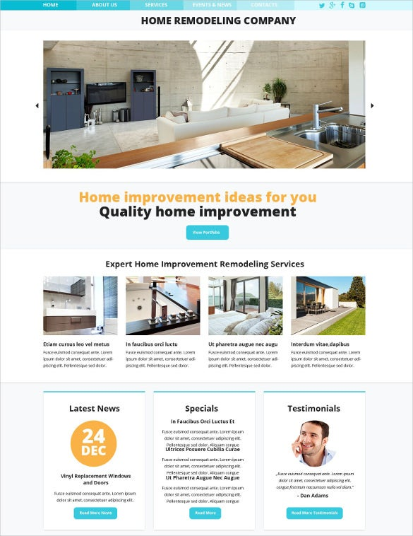home furniture responsive website template