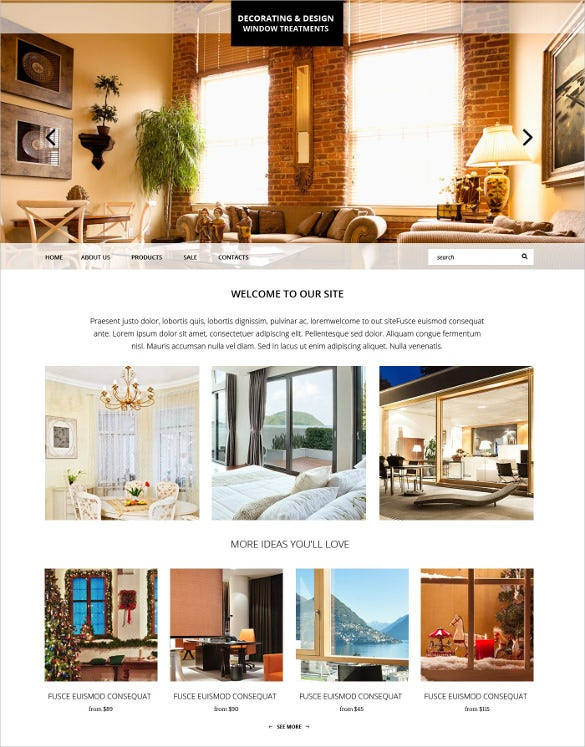 home decortive furniture website template