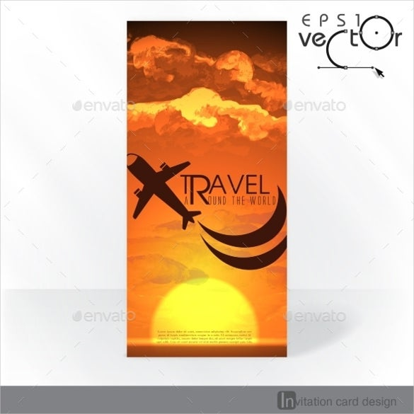 travel invitation card template