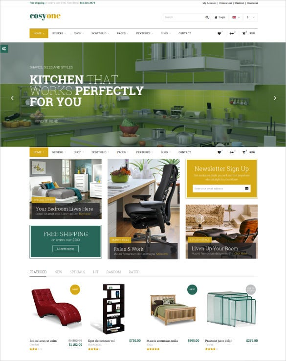 premium furniture html website template