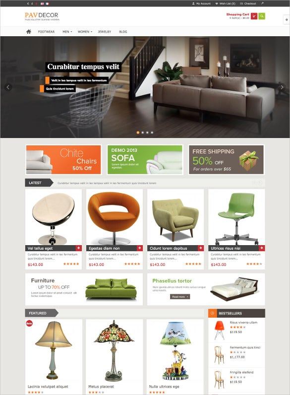 decortrive furniture opencart website theme