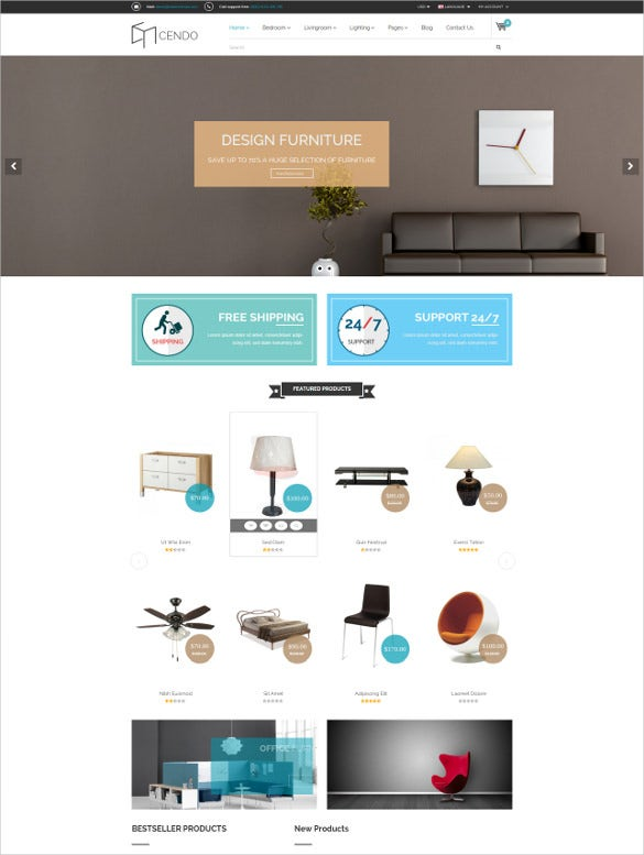 responsive html furniture website template