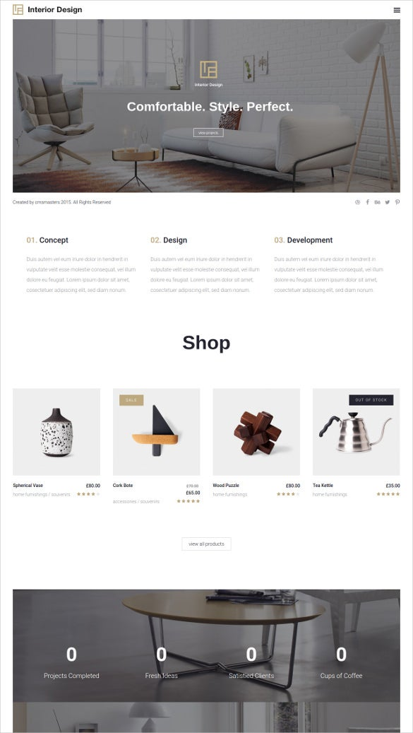 interior design furniture wp website theme