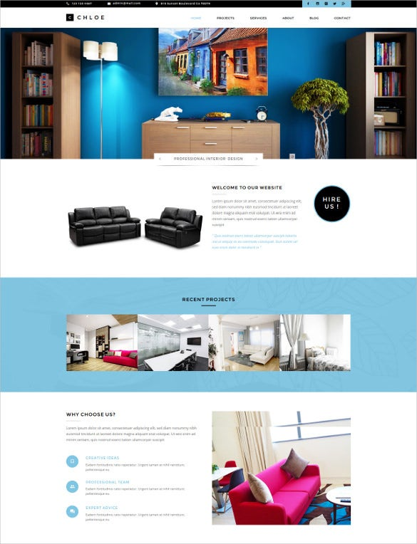 27 furniture website themes templates free premium for Exterior design website templates