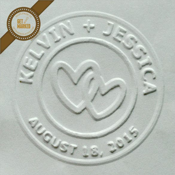 beautiful circle stamp template
