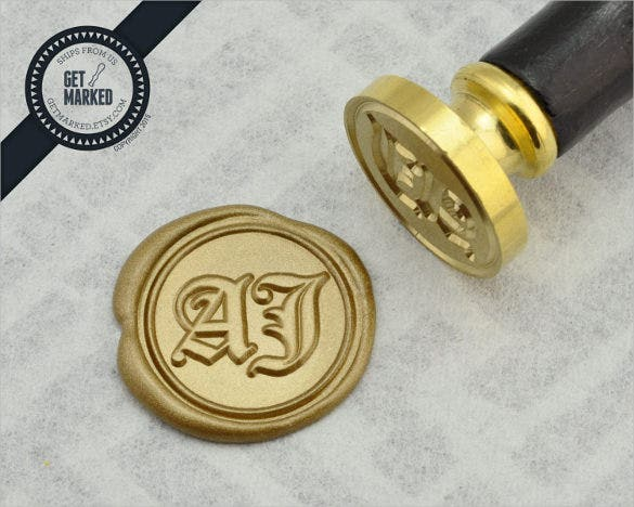 beautifully customized seal stamp template