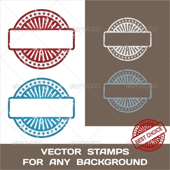 balnk rubber stamps template