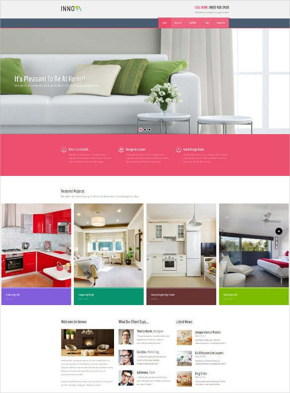interior funiture wordpress cms website theme