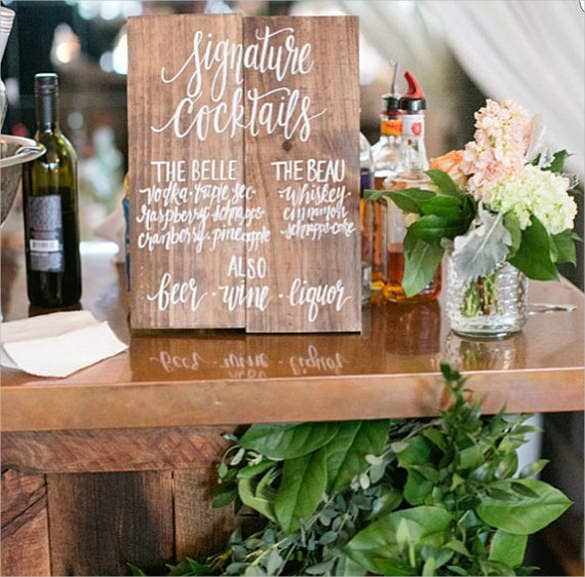 rustic wooden bar menu template download