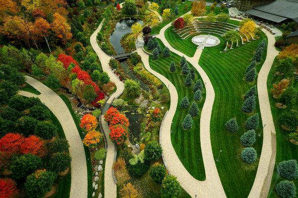 garden aerial drone photographs