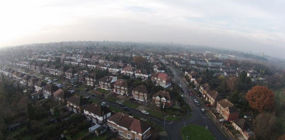 aerial drone appartments photograph download