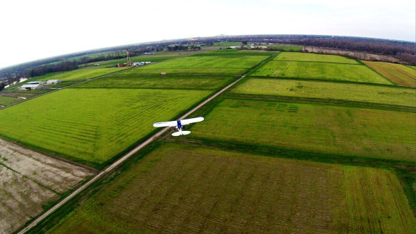 plane best click from aerial drone