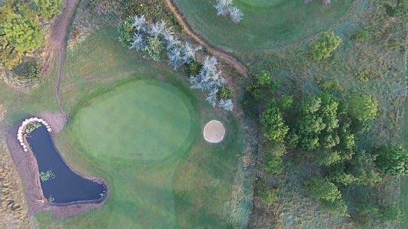 golf ground drone photograph download