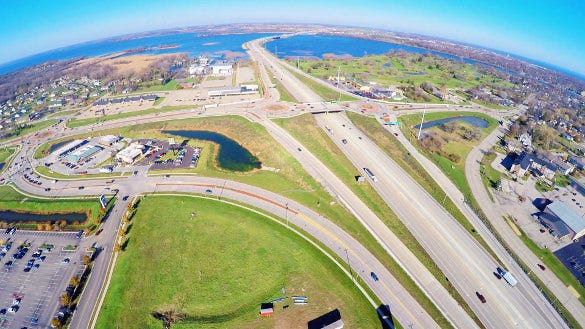 awesome road view drone aerial photograph download