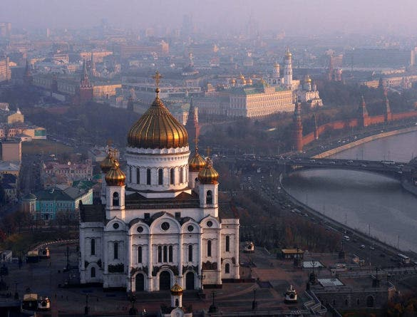 cathedral of christ the saviour aerial drone photography