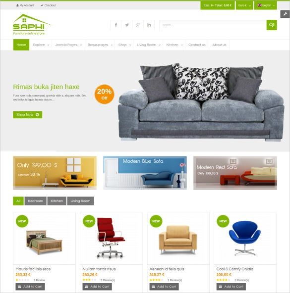 furniture joomla website theme