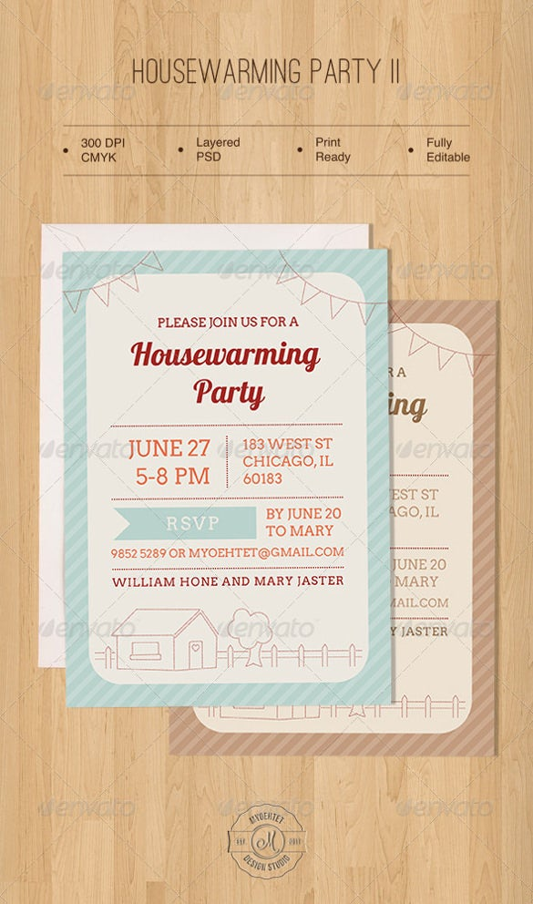 dotted housewarming invitation template
