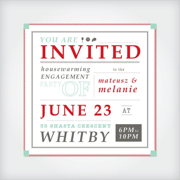 white housewarming invitation template
