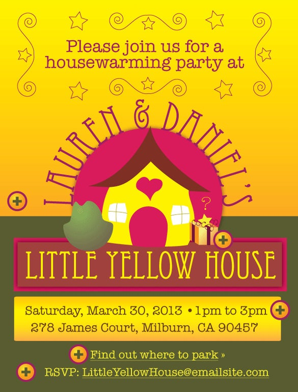 little yellow housewarming invitation template1