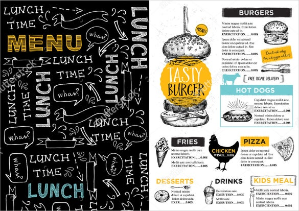 vector lunch menu design template download