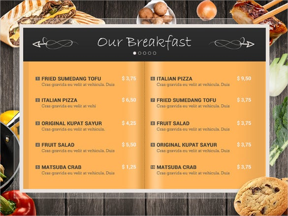 Lunch Menu Templates  Free Sample Example Format Download