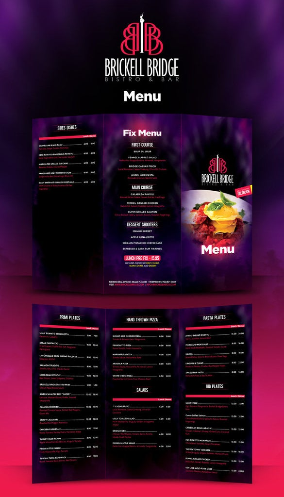 lunch menu download