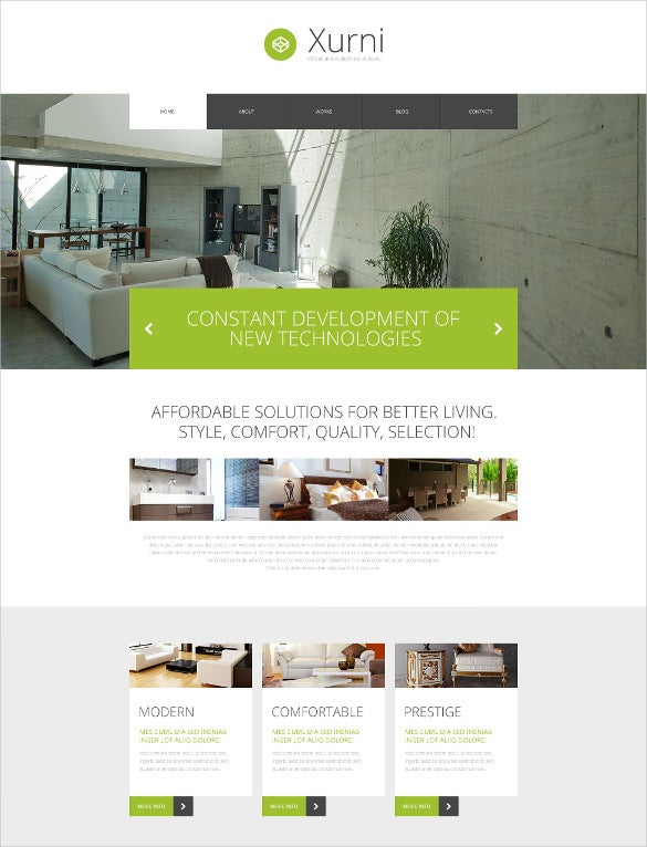 luxury furniture psd template