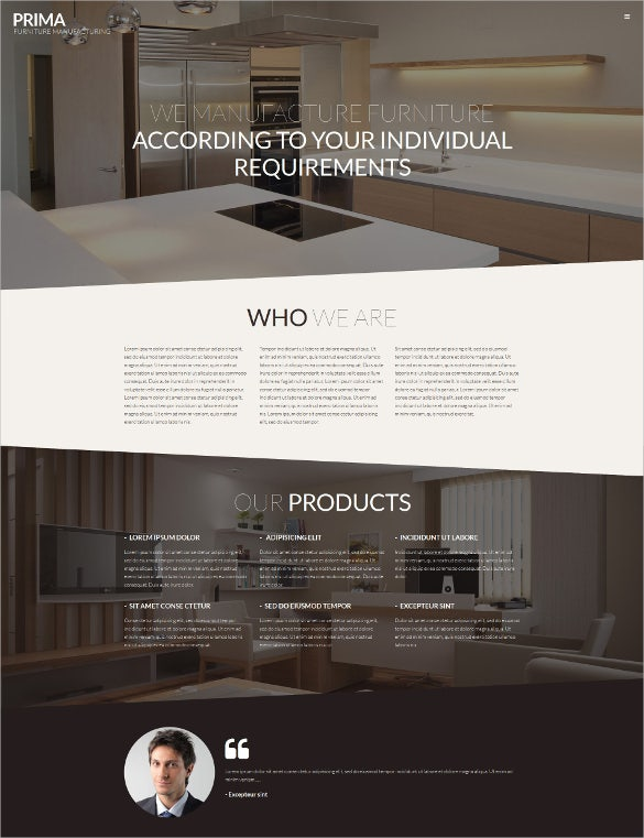 customized furniture psd template