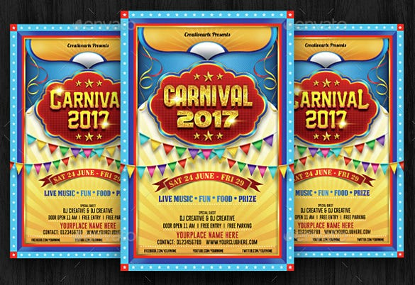 coaster carnival flyer template