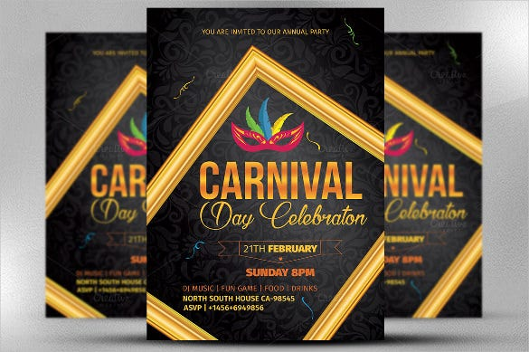 dark carnival party flyer template