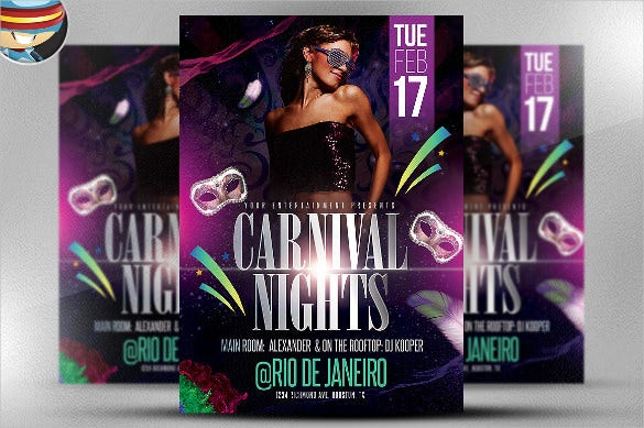 club carnival party flyer template