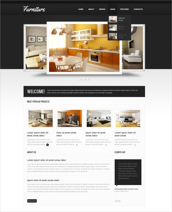 kitchen furniture psd template