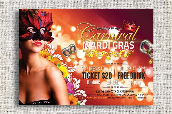 carnival flyer template 49 free psd ai vector eps format