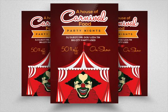 glow carnival flyer template
