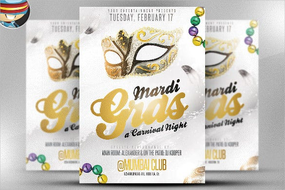 golden carnival flyer template