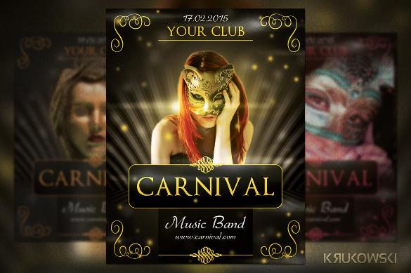 elegant carnival flyer template