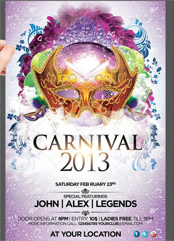 summer carnicval flyer template