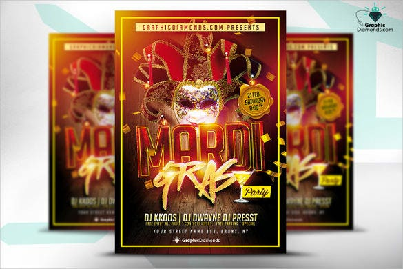 bufon party carnival party flyer template
