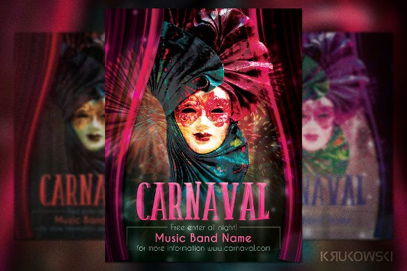 designed carnival flyer template