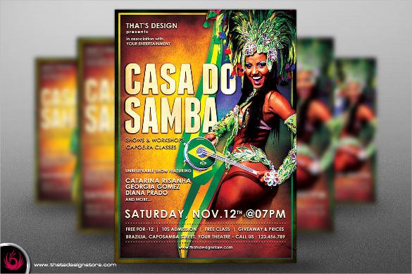 vintage carnival flyer template