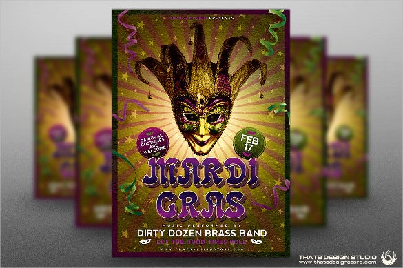 french carnival flyer template