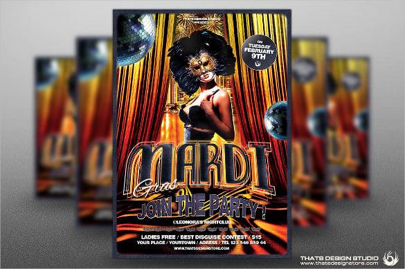 vanice carnival flyer template