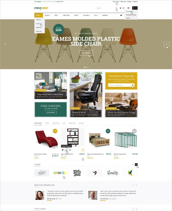 premium furniture interior psd template