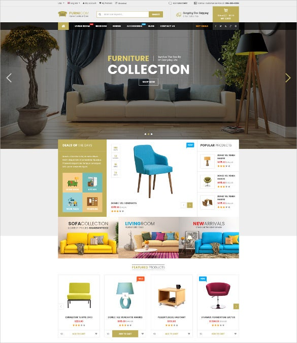 multipurpose furniture ecommerce psd template