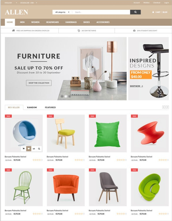 multi purpose furniture psd template