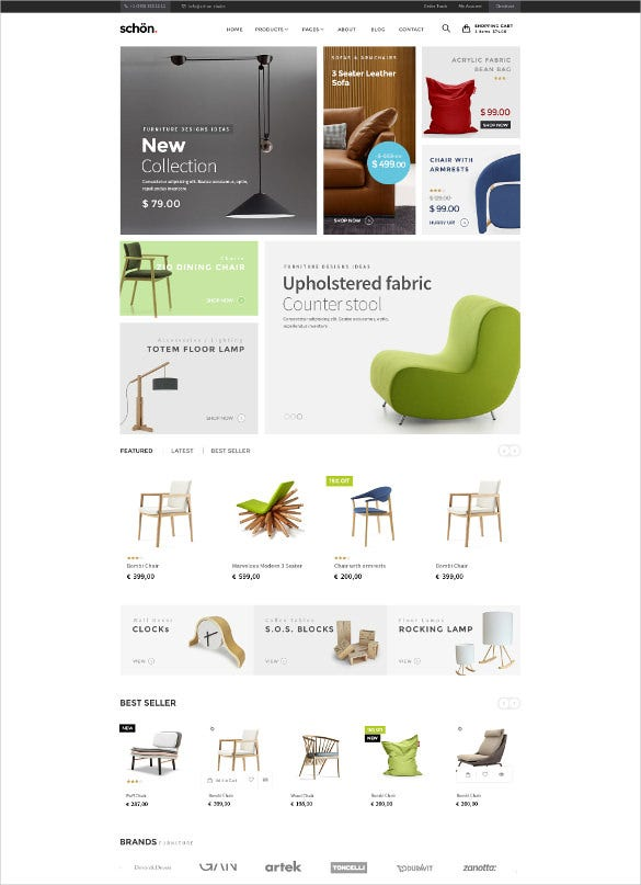 furniture ecommerce psd template