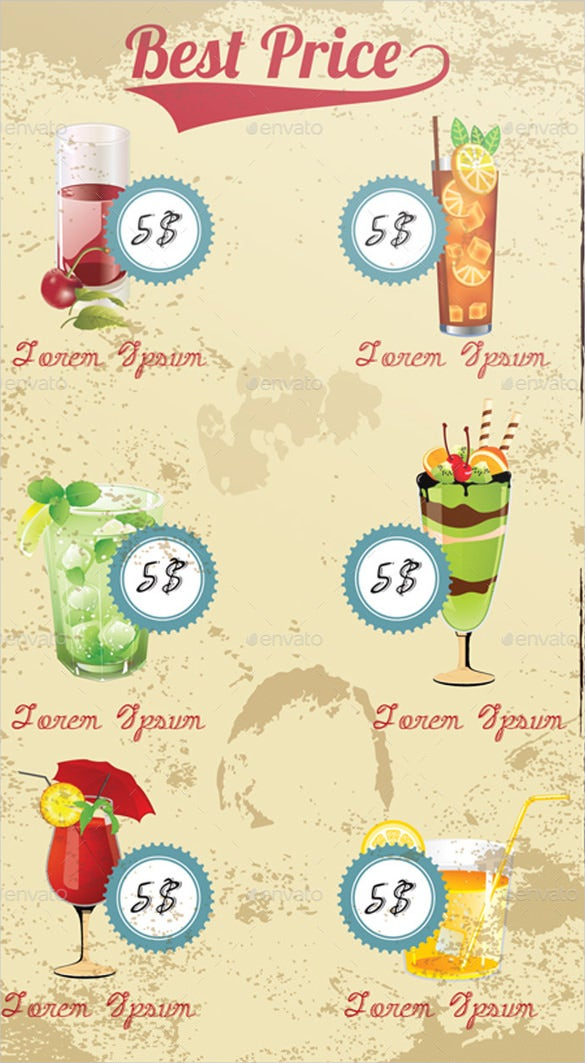 html header menu templates - 29 cocktail menu templates free sample example format