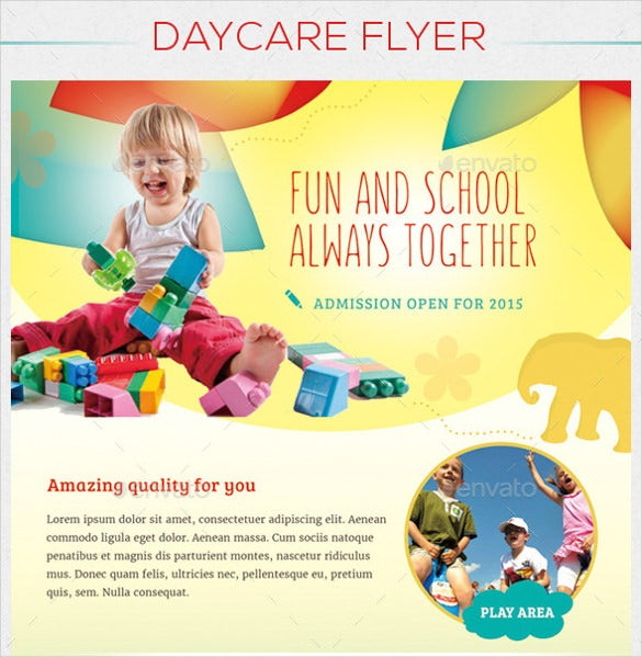 Daycare Flyer Templates Idealstalist